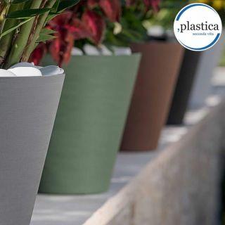 Vaso da tavolo HOOP Ø30 H28 con riserva d'acqua - TERAPLAST