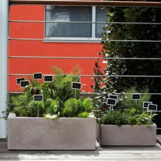 Vaso quadrato basso MINOS 60x60 H22,5 - NICOLI