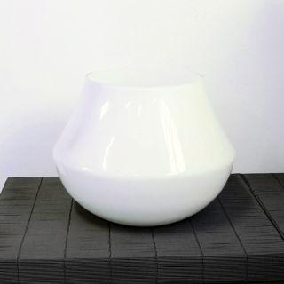 Vaso in vetro bianco - Ø33 H33