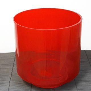 Vaso portacandela in vetro rosso - Ø24,5 H25