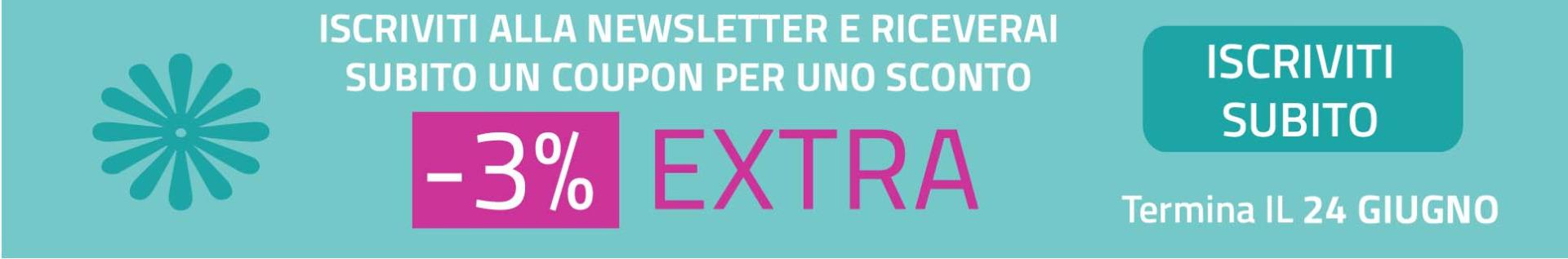 Promozione iscrizione newsletter