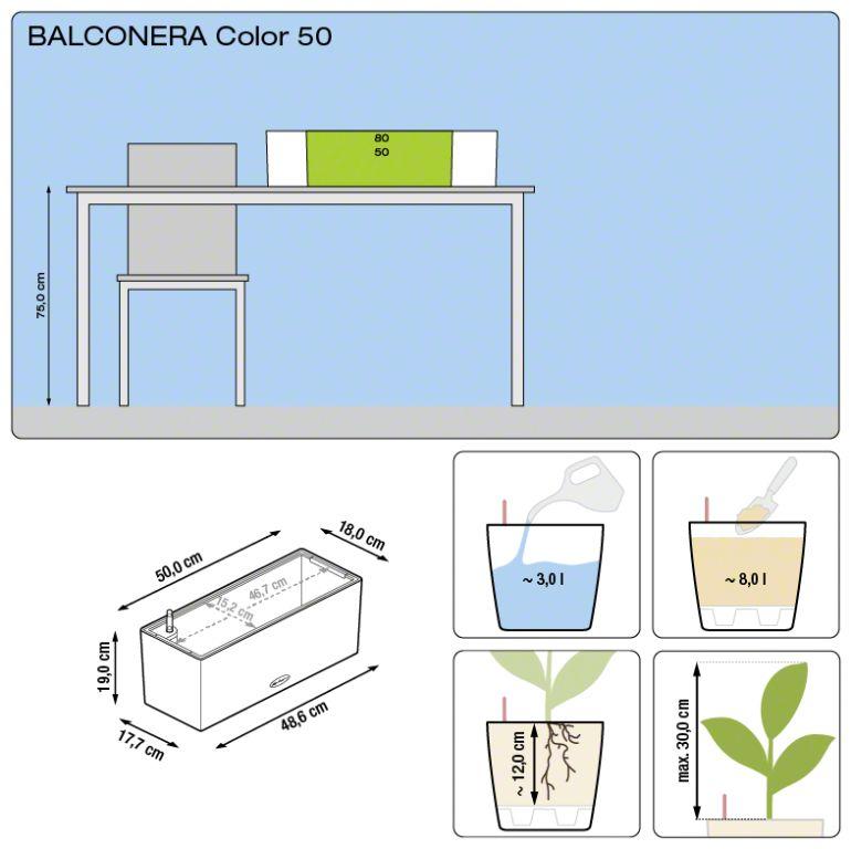 Misure Balconera Lechuza 50