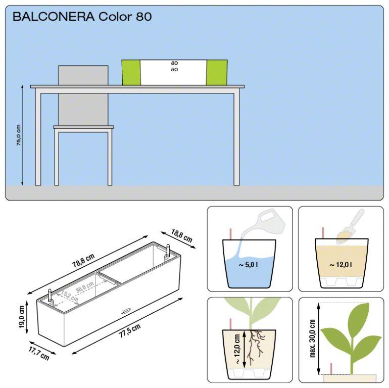 Misure Balconera Lechuza 80