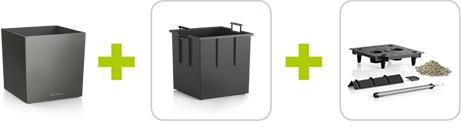 Vaso Cube Premium Lechuza 40x40
