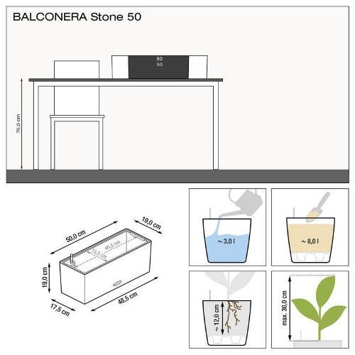 Misure Balconera Stone 50