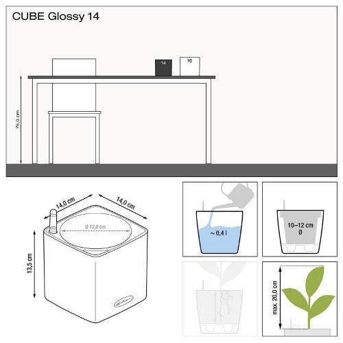 Misure Cube Glossy 14